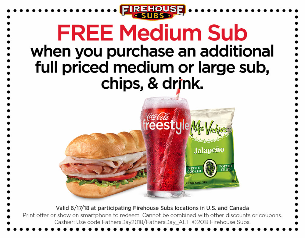 FREE Medium Sub when you buy a full priced...