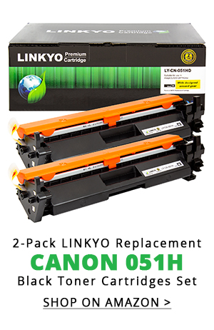 2-Pack LINKYO Replacement Black Toner Cartridges for Canon 051H