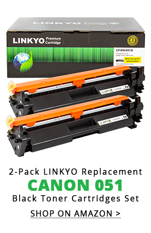 2-Pack LINKYO Replacement Black Toner Cartridges for Canon 051