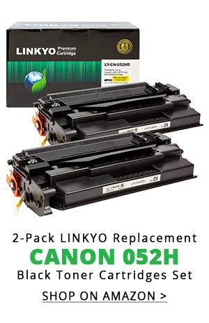 2-Pack LINKYO Replacement Black Toner Cartridges for Canon 052H