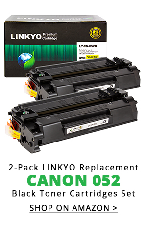 2-Pack LINKYO Replacement Black Toner Cartridges for Canon 052