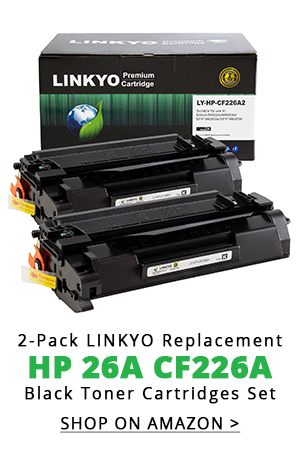 2-Pack LINKYO Replacement Toner Cartridges for HP 26A CF226A