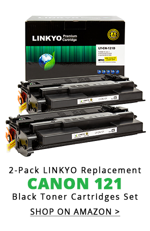 2-Pack LINKYO Replacement Black Toner Cartridges for Canon 121