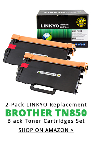 2-Pack LINKYO Replacement Black Toner Cartridges for Brother TN850