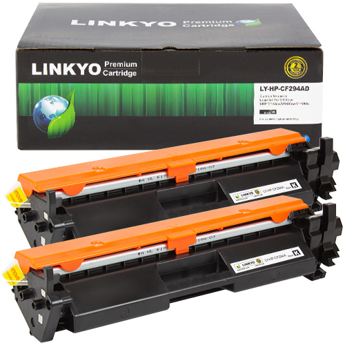 2-Pack LINKYO Replacement Black Toner Cartridges for HP 94A CF294A