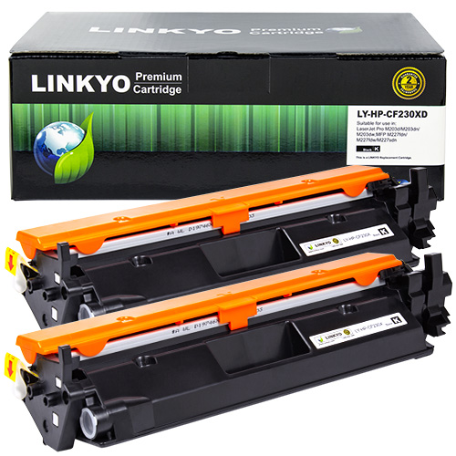 2-Pack LINKYO Replacement Black Toner Cartridges for HP 30A CF230A