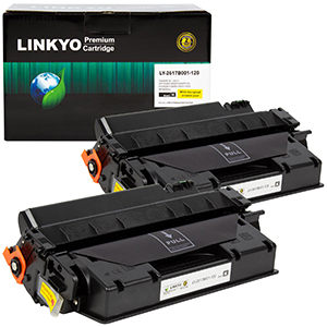 2-Pack LINKYO Replacement Black Toner Cartridges for Canon 120