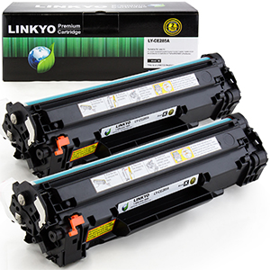 2-Pack LINKYO Replacement Black Toner Cartridges for HP 85A CE285A