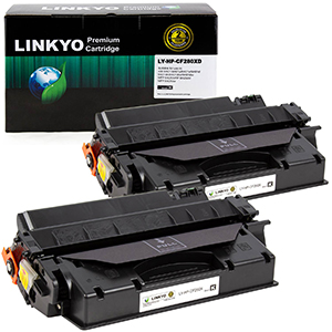 2-Pack LINKYO Replacement Black Toner Cartridges for HP 80X CF280X