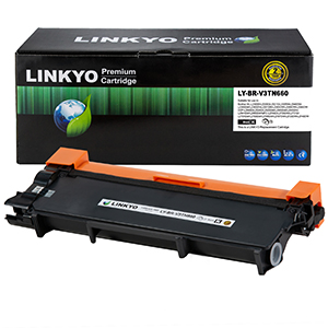1-Pack LINKYO Replacement Black Toner Cartridge Set for Brother TN660