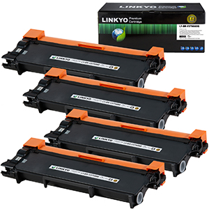 4-Pack LINKYO Replacement Black Toner Cartridges Set for Brother TN660