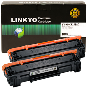 2-Pack LINKYO Replacement Black Toner Cartridges for HP 48A CF248A
