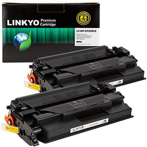 2-Pack LINKYO Replacement Black Toner Cartridges for HP 26X CF226X